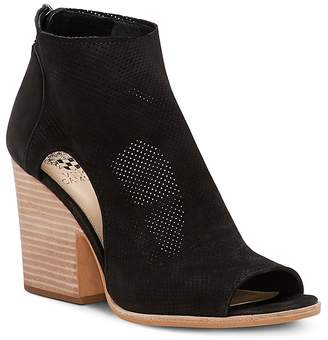 Vince Camuto Women's Bevina Nubuck Leather Peep-Toe Booties