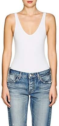 ATM Anthony Thomas Melillo Women's Rib-Knit Sleeveless Bodysuit - White