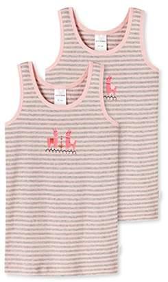 Schiesser Girl's Hemd 0/0 (2er Pack) Vest, (Grey Blend 202), Pack of 2