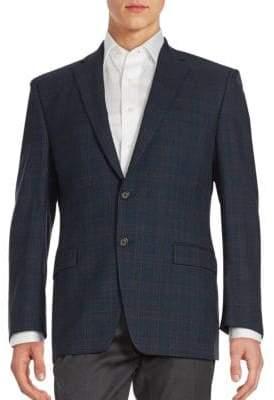 Ralph Lauren Plaid Wool Blazer