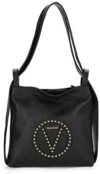 Mario Valentino Abel Studded Pebble Leather Tote Bag