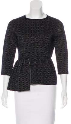 Dries Van Noten Wool Peplum Top