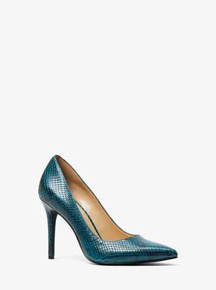 MICHAEL Michael Kors Claire Embossed-Leather Pump
