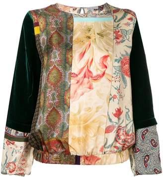 Pierre Louis Mascia Pierre-Louis Mascia print mix blouse