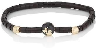 Luis Morais Men's Globe Beaded Bracelet - Black