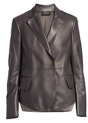 Akris Women's Denada Scalloped Hem Leather Blazer