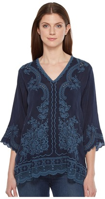 Johnny Was - Embroidered Blouse Women's Blouse $220 thestylecure.com