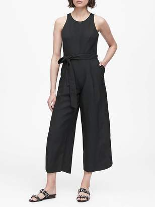 Banana Republic Petite Linen-Blend Cropped Jumpsuit