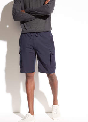 Drawstring Stretch-Cotton Cargo Short