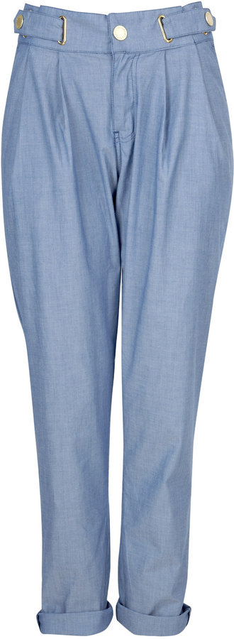 Mulberry Light Blue Paper Bag Trousers