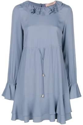 Twin-Set ruffle drawstring waist dress Discount Cheapest Price Great Deals Cheap Price jutFLfCc