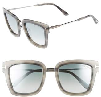 Tom Ford Lara 52mm Mirrored Square Sunglasses