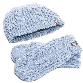 Women's The North Face Minna Beanie & Mittens - Blue $70 thestylecure.com