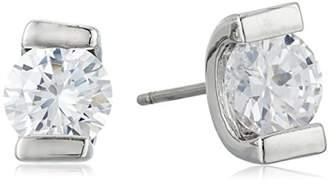 "lonna & lilly Classics"" -Tone/Cubic Zirconia Glass Stud Earrings"