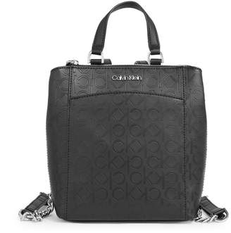 Calvin Klein Hayden Monogram Leather Backpack
