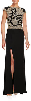Tadashi Shoji Embroidered Floral Gown $419 thestylecure.com
