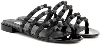 Balenciaga Arena patent leather sandals