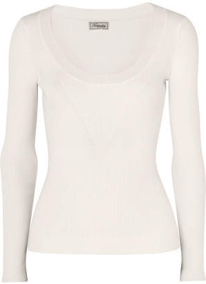 Temperley London Joan Ribbed-knit Sweater - Ivory