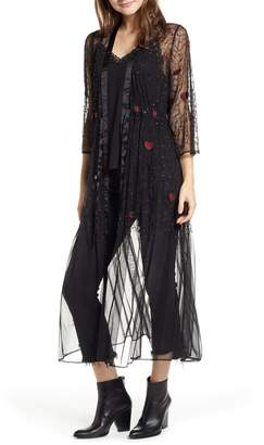 New Friends Colony Sacred Heart Beaded Kimono