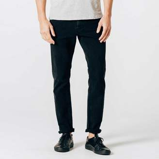 DSTLD Slim Jeans in Black Worn
