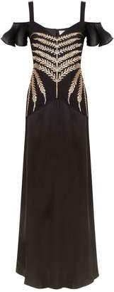 Temperley London Savannah Cold Shoulder Gown