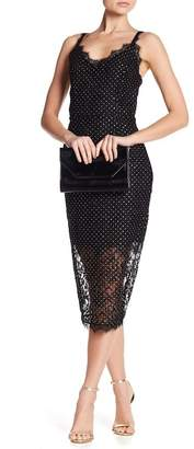 Rachel Roy Studded Lace Slip Dress