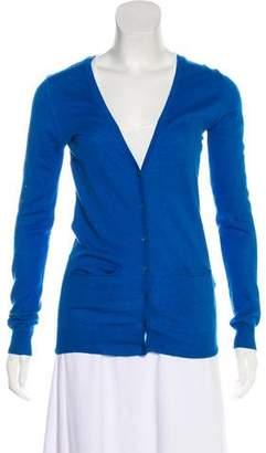 Dear Cashmere Long Sleeve Button-up Cardigan