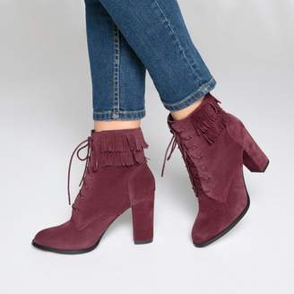 La Redoute COLLECTIONS Leather Fringed Ankle Boots