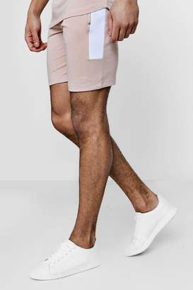 boohoo Skinny Fit MAN Signature Contrast Panelled Shorts