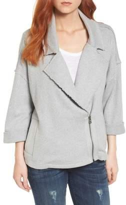 Caslon Knit Moto Jacket (Regular & Petite)