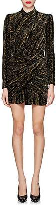 Balenciaga Women's Metallic Velvet Jacquard Minidress - Black