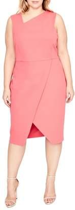 Rachel Roy Willow Asymmetrical Sheath Dress