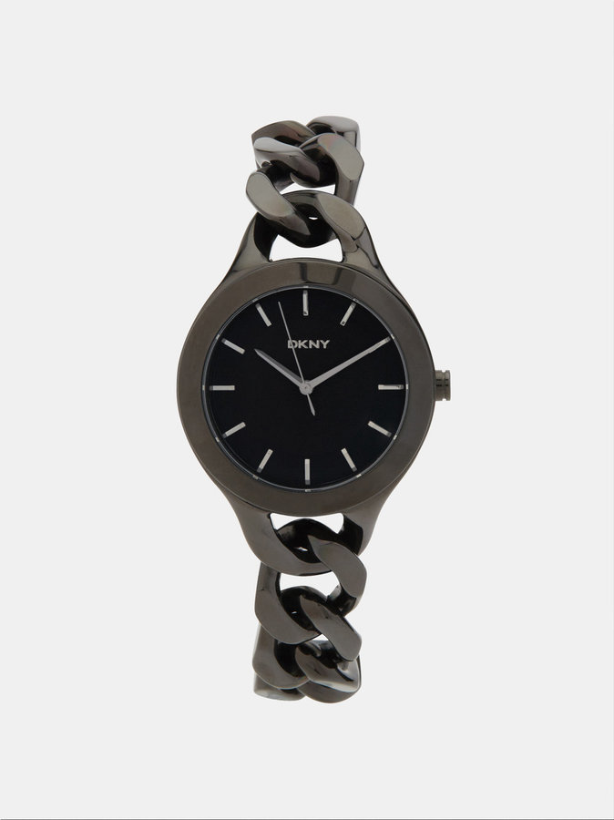 DKNY Chambers Large Black Link Watch