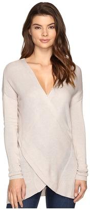 Brigitte Bailey Amaris Cross-Front Sweater $89 thestylecure.com