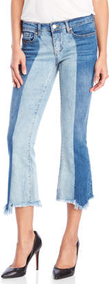 Dollhouse Two-Tone Cropped Jeans