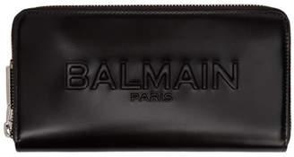 Balmain Black Continental Logo Wallet