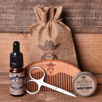 Honest Outlaw Beard Grooming Kit. Oil, Wax, Comb, Scissors