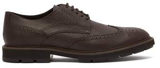 Tod's Grained Leather Brogues - Mens - Dark Brown