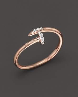 KC Designs Diamond Nail Ring in 14K Rose Gold, .06 ct. t.w.