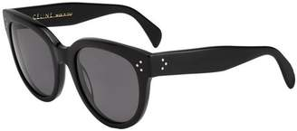 Celine 41755/S Sunglasses-0807 Black (3H Smoke Polarized Lens)-55mm [Luggage]...