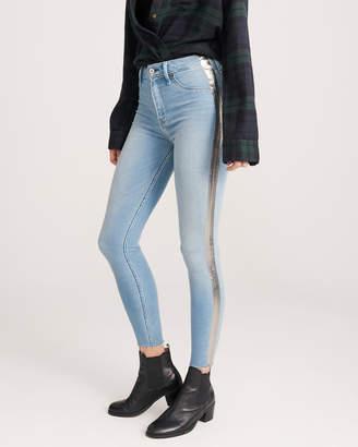 Abercrombie & Fitch High Rise Side Stripe Jean Legging