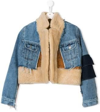 Duo TEEN shearling denim jacket