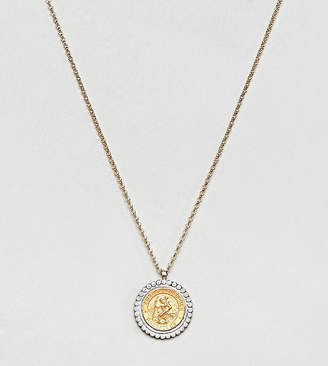 Dogeared (ドギャード) - Dogeared Gold & Silver Plated St Christopher Medallion Necklace