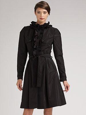 Dolce & Gabbana Ruffle-Front Trenchcoat