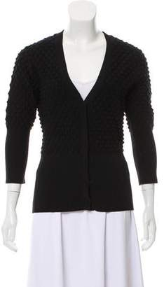 Zac Posen Textured V-Neck Sweater