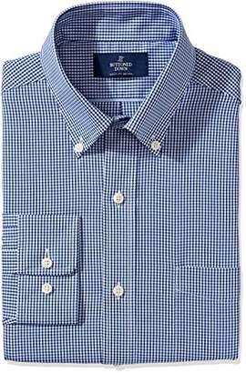 Buttoned Down Men's Classic Fit Cutaway-Collar Pattern Non-Iron Dress Shirt