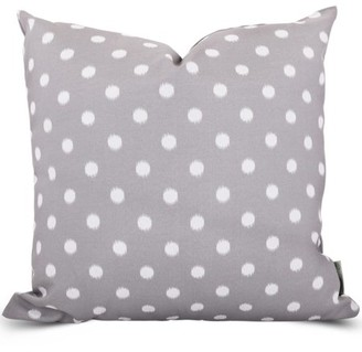 Majestic Home Goods Indoor Outdoor Gray Ikat Dot Extra Large Decorative Throw Pillow 24 in L x 10 in W x 24 in H