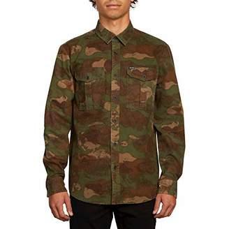 Volcom Men's Hucker Long Sleeve Camo Button Up Shirt