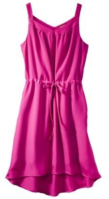 Merona Women's Shirttail Hem Colorblock Dress - Fuschia Red