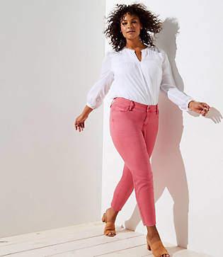 LOFT Plus Fresh Cut Skinny Crop Jeans